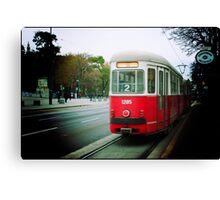 The tram in Vienna, Austria Canvas Print