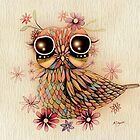 little flower owl by Karin  Taylor