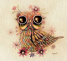 little flower owl by © Cassidy (Karin) Taylor