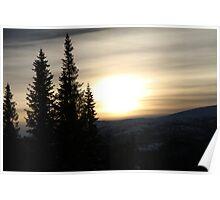 sweden sunset 2 Poster