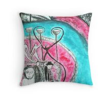 Spirits Sip from the Cup of life Throw Pillow