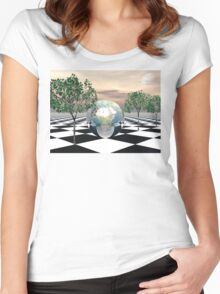 Checker Trees Women's Fitted Scoop T-Shirt