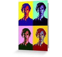 Warhol's Sherlock/Benedict Cumberbatch  Greeting Card