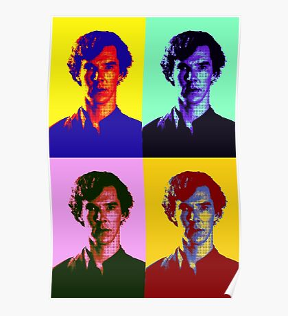 Warhol's Sherlock/Benedict Cumberbatch  Poster
