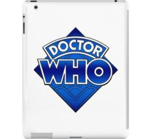 Doctor Who Diamond Logo Blue gradient. iPad Case/Skin