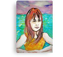 Young Girl Portrait Tamara Canvas Print