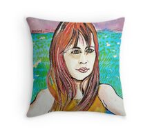 Young Girl Portrait Tamara Throw Pillow