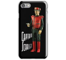 Captain Scarlet (black) iPhone Case/Skin