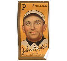 Benjamin K Edwards Collection John Lobert Philadelphia Phillies baseball card portrait Poster