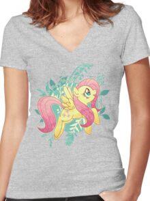 Flutter Nature Women's Fitted V-Neck T-Shirt