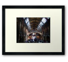 Crowds at the NHM Framed Print