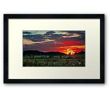 Sunset in Taivalkunta Framed Print
