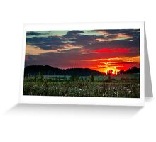 Sunset in Taivalkunta Greeting Card