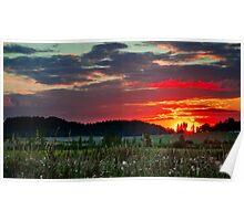 Sunset in Taivalkunta Poster