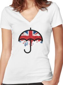 British weather Women's Fitted V-Neck T-Shirt