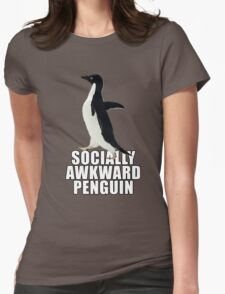 Socially Awkward Penguin [SAP] Womens Fitted T-Shirt