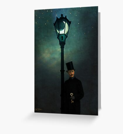 It happened in the moonlight Greeting Card