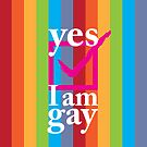 Yes I am gay iPhone and iPod case by Nick Egglington
