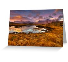 Rannoch Moor, Glencoe, Scotland Greeting Card