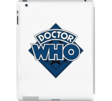 Doctor Who Diamond Logo Blue Black Bars iPad Case/Skin