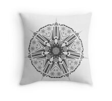 XMAS Mandala grey Throw Pillow