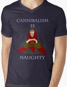 Cannibalism Is Naughty Mens V-Neck T-Shirt