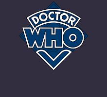 Doctor Who Diamond Logo Blue White Lines. T-Shirt