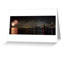 Fireworks Over Manhattan Greeting Card