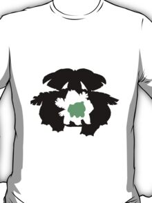 Venusaur evolution chart (transparent) T-Shirt