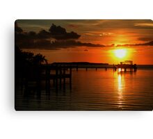 Tropical sunset at Key Largo, FL Canvas Print