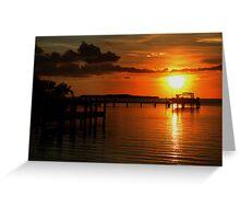 Tropical sunset at Key Largo, FL Greeting Card