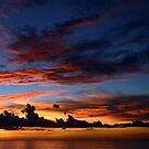 Beautiful sunset at tropical island by Anton Oparin