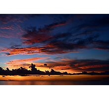Beautiful sunset at tropical island Photographic Print
