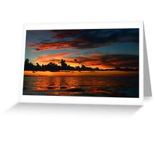 Beautiful sunset at tropical island Key Largo, FL Greeting Card