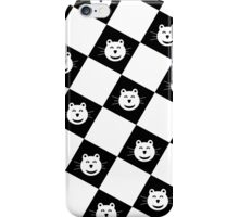 Kitty Bear Check White Version iPhone Case/Skin