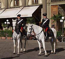 Carabinieri a cavallo in Firenze (Piazza Repubblica) by bertipictures