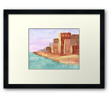 Coastal City at Sunset Framed Print