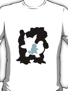 Blastoise evolution chart (transparent) T-Shirt