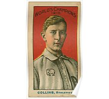 Benjamin K Edwards Collection Eddie Collins Philadelphia Athletics baseball card portrait Poster