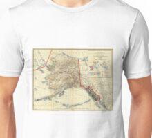 Vintage Map of Alaska (1906) Unisex T-Shirt