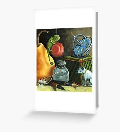 YoYo - Still Life Oil Painting Greeting Card