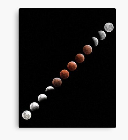 Lunar Eclipse - December 10 2011 Canvas Print