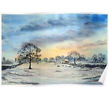Winter Tree, Mattersey, North Nottinghamshire. Poster