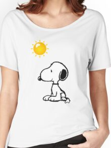 Happy snoopy Women's Relaxed Fit T-Shirt