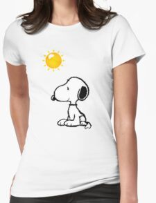 Happy snoopy Womens Fitted T-Shirt