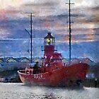 Lightship Sula, Dusk, Gloucester Docks, UK by buttonpresser