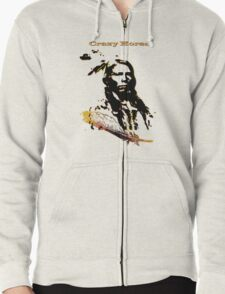 Crazy Horse T-Shirt Zipped Hoodie