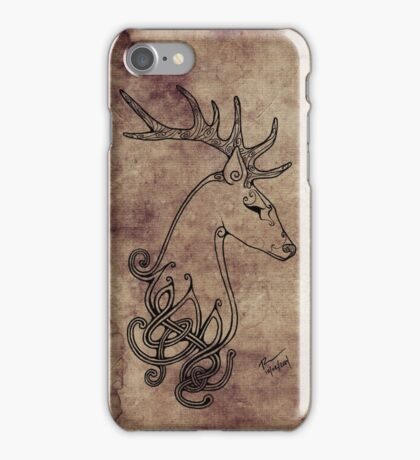 Knotwork Stag Blueberry iPhone Case/Skin