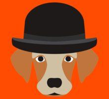 Dog Wearing a Bowler Hat Kids Tee