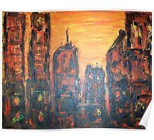 Metropolis Sunset Poster